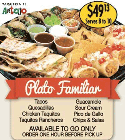 Plato Familar, perfect for all occasions!
